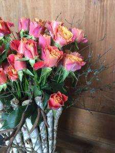 Blumen Rabe