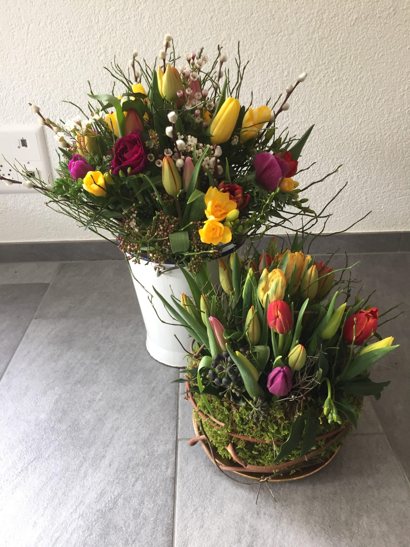 Tulpenstrauss und -Nest